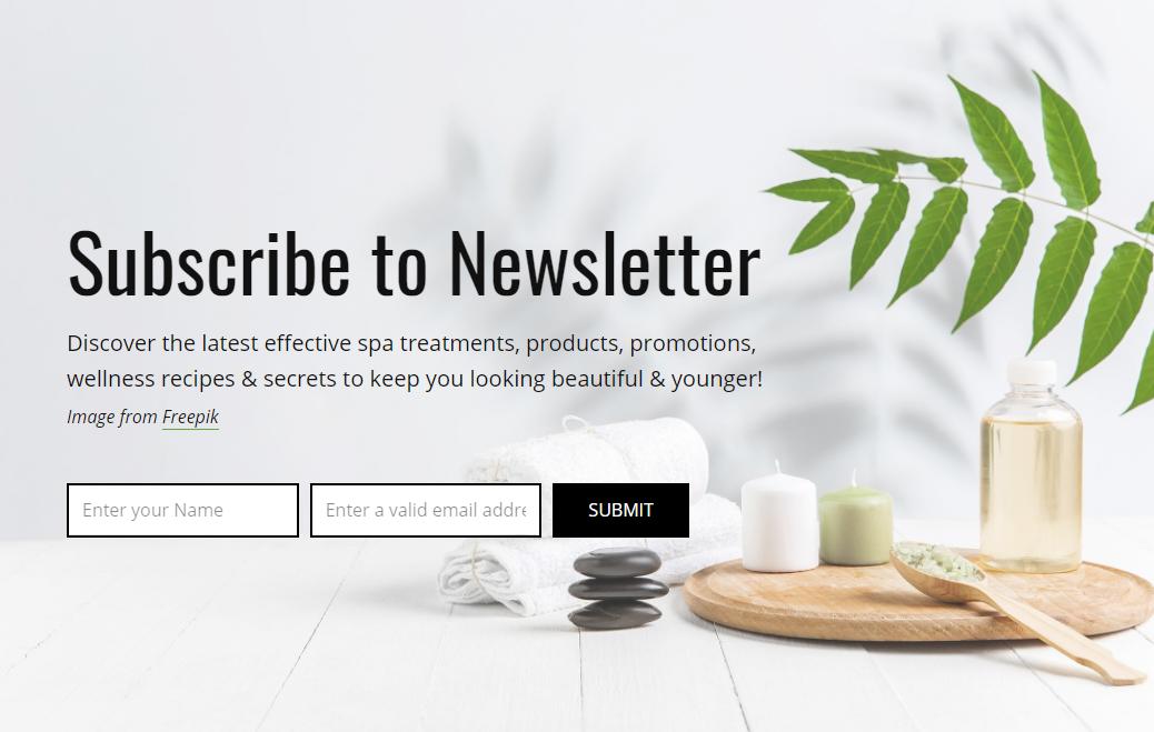 Landing page zapis na Newsletter